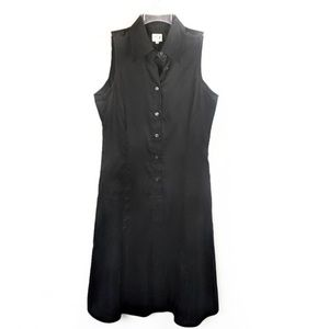 ARMANI COLLEZIONI Black Sleeveless Shirt Dress